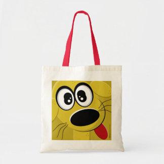 Tote Bag Visage de chien jaune