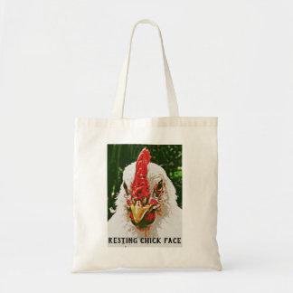 Tote Bag Visage de repos Fourre-tout de poussin
