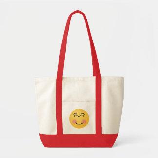 Tote Bag Visage de sourire avec les yeux de sourire