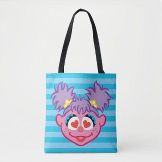 Tote Bag Visage de sourire d'Abby avec les yeux en forme de