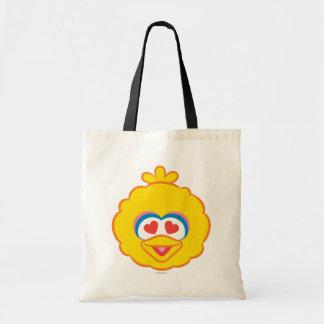 Tote Bag Visage de sourire de grand oiseau avec les yeux en