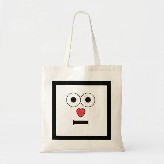 Tote Bag Visage étonné avec le nez de coeur