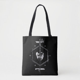Tote Bag Voldemort Harry Potter font face au graphique