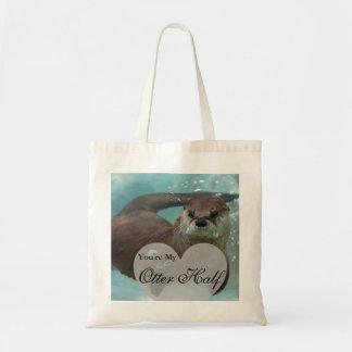 Tote Bag Votre ma demi de natation de loutre de rivière de