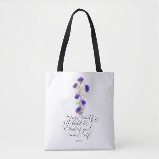 Tote Bag Votre vers manuscrit inspiré de beauté