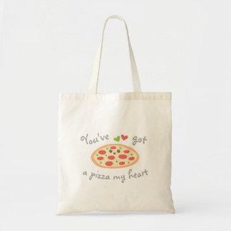 Tote Bag Vous avez une pizza mon calembour drôle mignon
