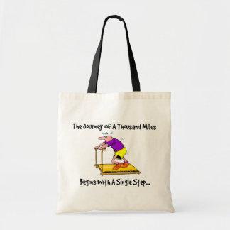 Tote Bag Voyage de mille milles - motivation d'exercice