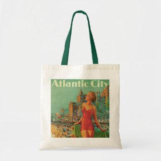 Tote Bag Voyage vintage, blonde de plage de station de