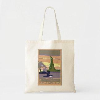 Tote Bag Voyage vintage, New York City, statue de la