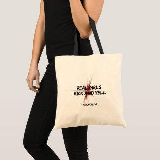 Tote Bag Vrais coup-de-pied et hurlement de filles d'arts