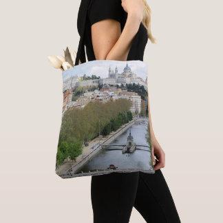 Tote Bag Vue panoramique de cathédrale d'Almudena