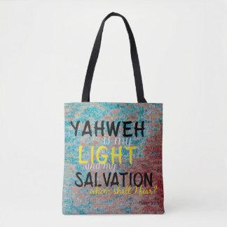 Tote Bag Yahweh chrétien est ma lumière et mon salut