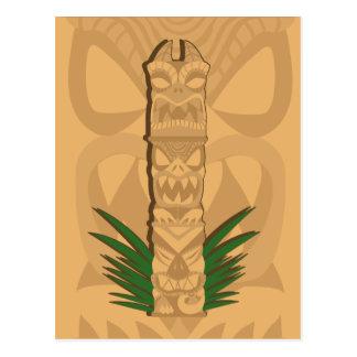Totem de Tiki de dinosaure Carte Postale