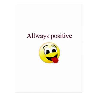 Toujours positif carte postale