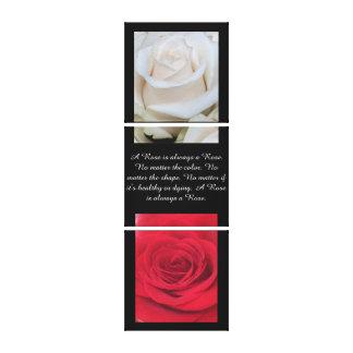 Toujours un rose - ensemble de triple toiles