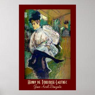 Toulouse-Lautrec : Jane Avril Danzante