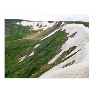 Toundra alpine de route de Ridge de traînée Carte Postale