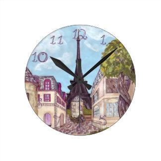 Tour Eiffel de Paris a inspiré des nombres de Horloge Ronde