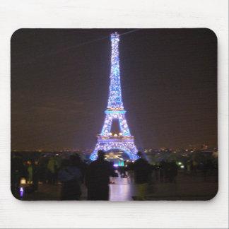 Tour Eiffel de Paris la nuit Tapis De Souris