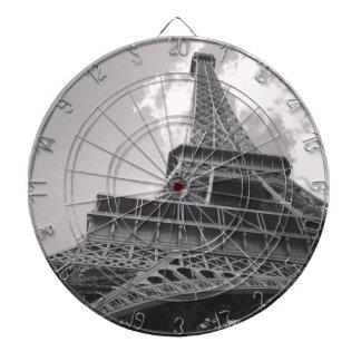 Tour Eiffel en noir et blanc Jeu De Fléchettes