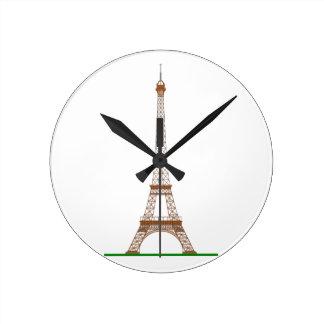 Tour Eiffel Horloge Ronde