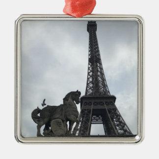 Tour Eiffel, ornement de vacances de silhouette de