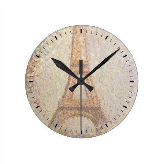 Tour Eiffel par Georges Seurat Horloge Ronde