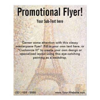 Tour Eiffel par Georges Seurat Prospectus 11,4 Cm X 14,2 Cm
