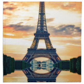 Tour Eiffel Paris même le voyage européen Serviettes En Tissus