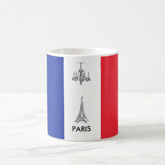 Tour Eiffel tasse de café française de drapeau de