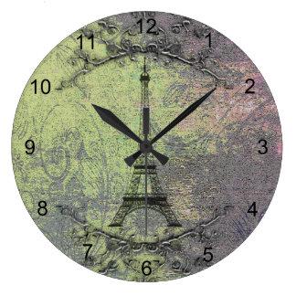 Tour Eiffel vintage Grande Horloge Ronde