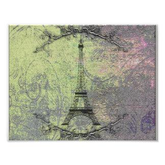 Tour Eiffel vintage Impression Photo