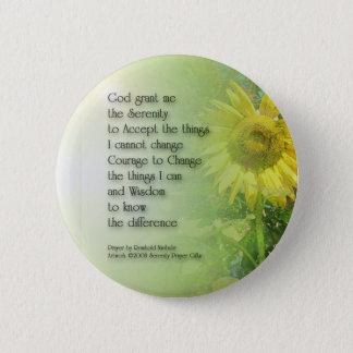 Tournesol 3 de prière de sérénité badge rond 5 cm