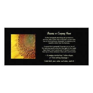 Tournesol frais et d'or carte double en  couleur