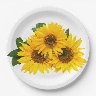Tournesols jaunes floraux - le mariage/partie assiettes en papier