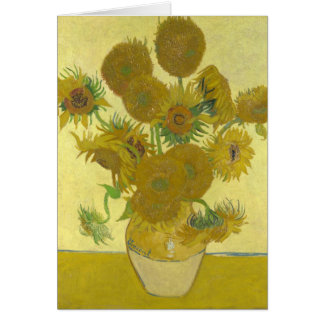 Tournesols par Vincent van Gogh Carte De Vœux