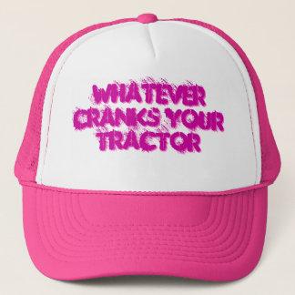 Tournez la manivelle de votre casquette de