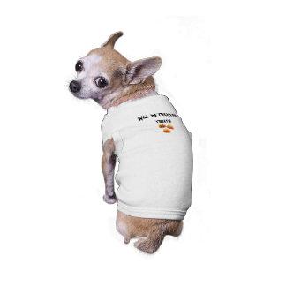 Tours pour des festins vêtements pour chien
