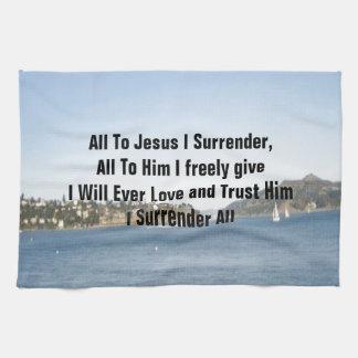 Tous à Jésus que je me rends Serviette Éponge
