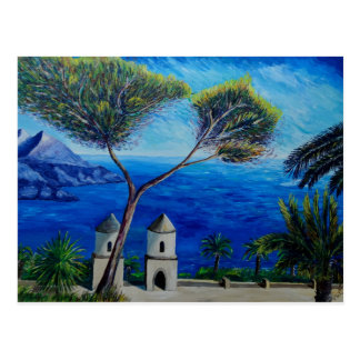Tous bleus sur la côte d'Amalfi en Italie Carte Postale