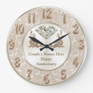 TOUS cadeaux personnalisés magnifiques Grande Horloge Ronde