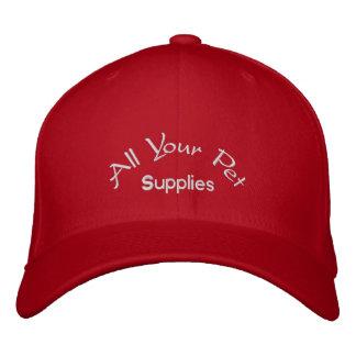Tous vos approvisionnements d'animal familier casquette brodée