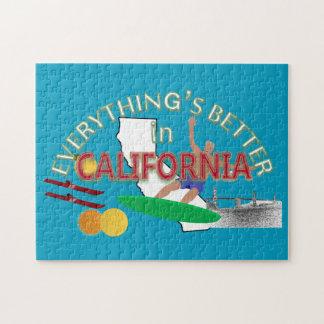 Tout est meilleur dans le puzzle de la Californie