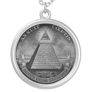 Tout le collier voyant d'Illuminati d'oeil