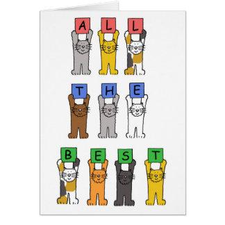 Tout le meilleur (pour votre retraite). carte de vœux