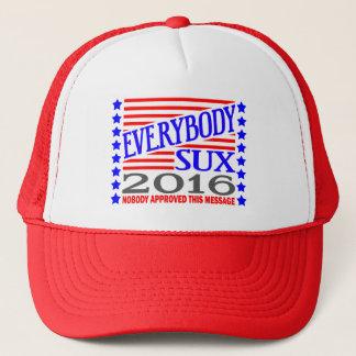 Tout le monde casquette d'élection présidentielle