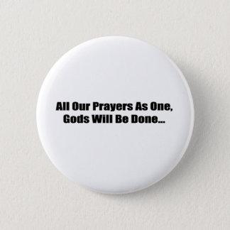 Tout notre bouton de prières badge rond 5 cm