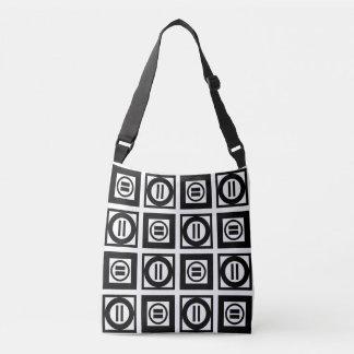 Tout plus de - motif noir et blanc de signe sac ajustable