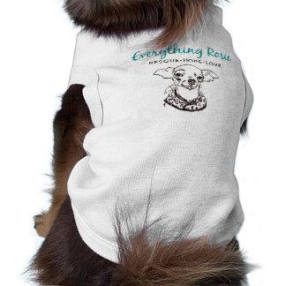Tout T-shirt d'animal familier de Rosie Tee-shirts Pour Toutous