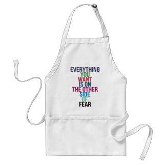 Tout vous Want est de l'autre côté de la crainte Tablier